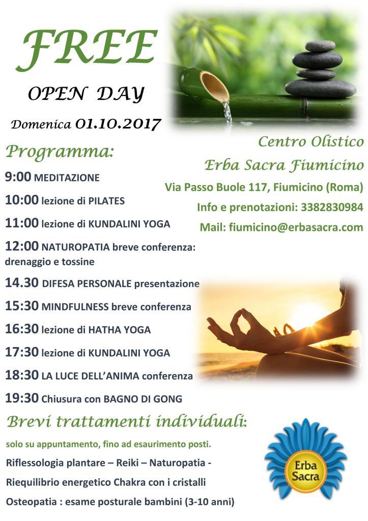 Free Open Day_Erba Sacra Fiumicino_01.10.2017
