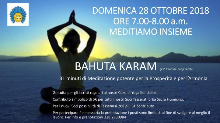 Meditazione Bahuta karam